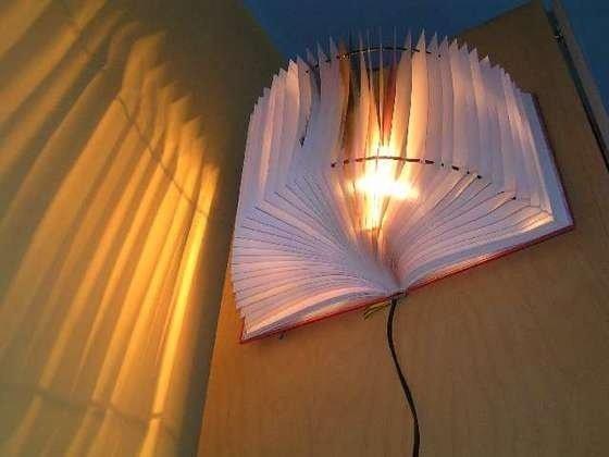 Lámpara de reciclaje
