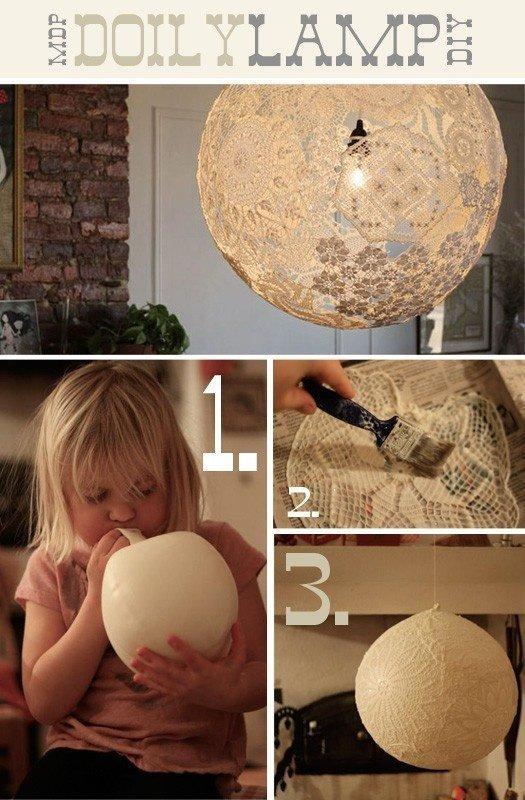 Lámpara de encaje con globo