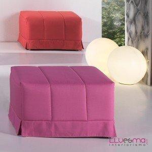 Decoraci n con puff camas blog fiaka for Sofa cama individual plegable