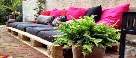 10 objetos diy y reciclados para decorar la terraza o - Decorar terrazas reciclando ...