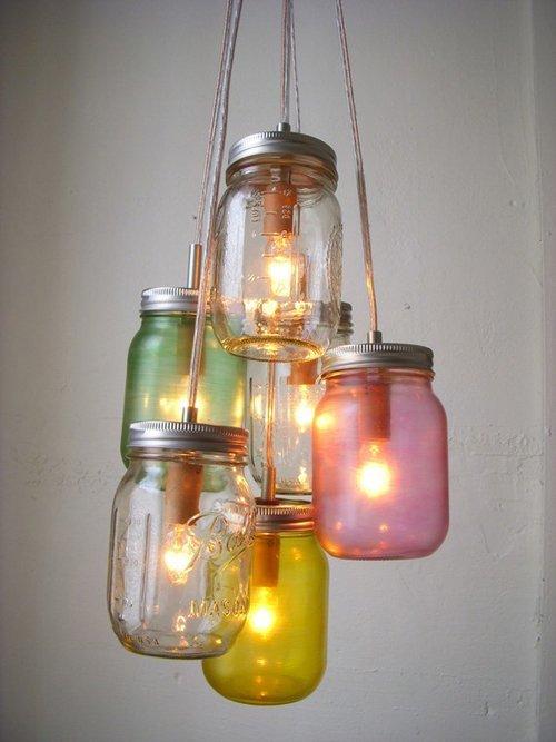 lámpara diy