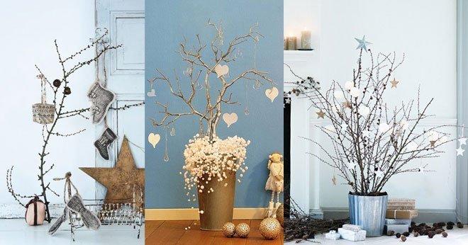20 originales diy para decorar la navidad blog fiaka - Ramas decoradas ...