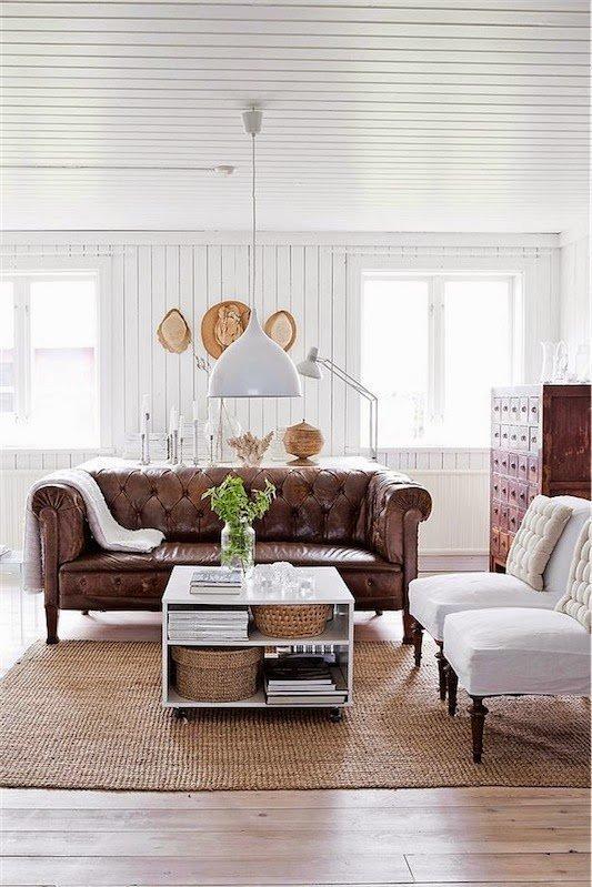 El maravilloso mundo del sof chester blog fiaka - Sofas marrones decoracion ...