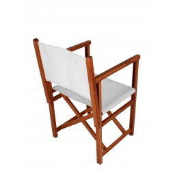 Director Chair - White Canvas