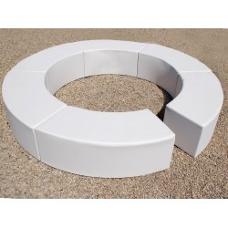 Curved Bench - Leatherette White