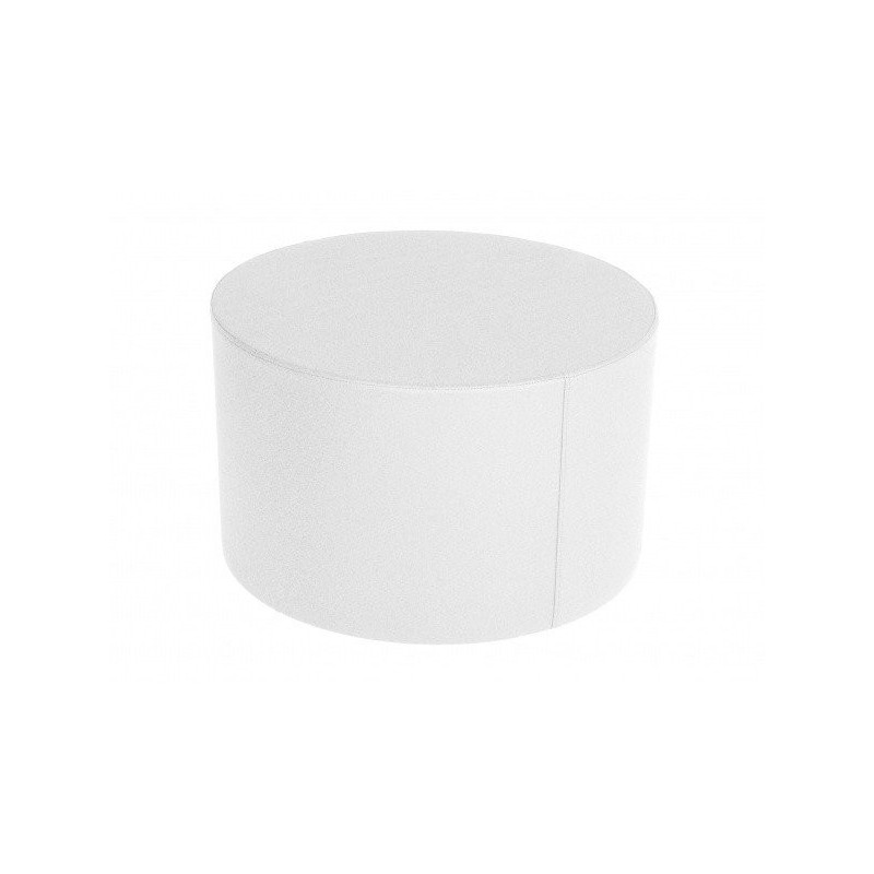 Cylindrical table 60 - Leatherette without legs White 60x30 cm