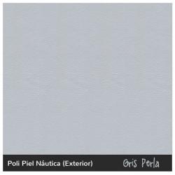 Silla Turín - Náutico (Poli Piel) Gris perla
