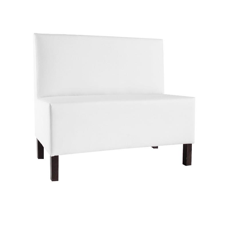 Venecia Two-Seater Bench - Leatherette White