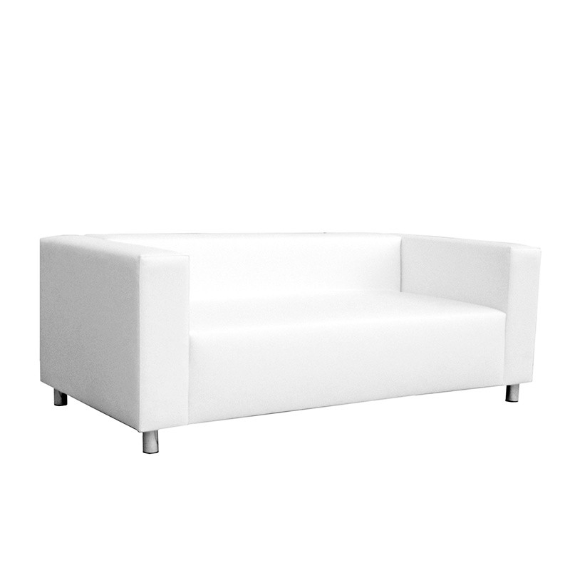Nantes Two-Seater Sofa - Leatherette White