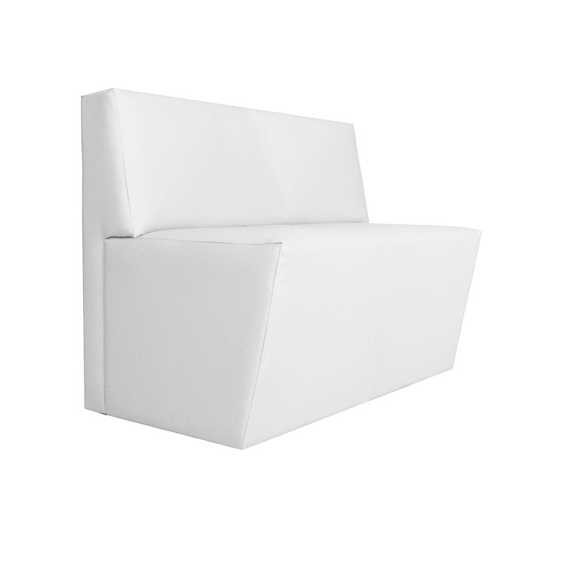 Chipre Two-Seater Sofa - Leatherette White