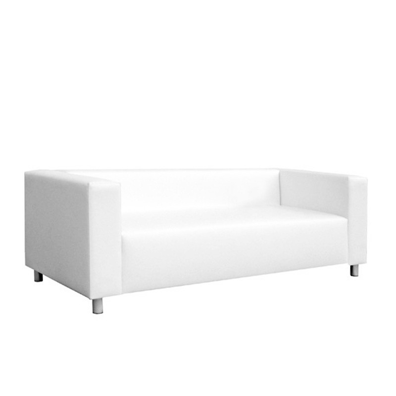 Nantes Three-Seater Sofa - Leatherette White