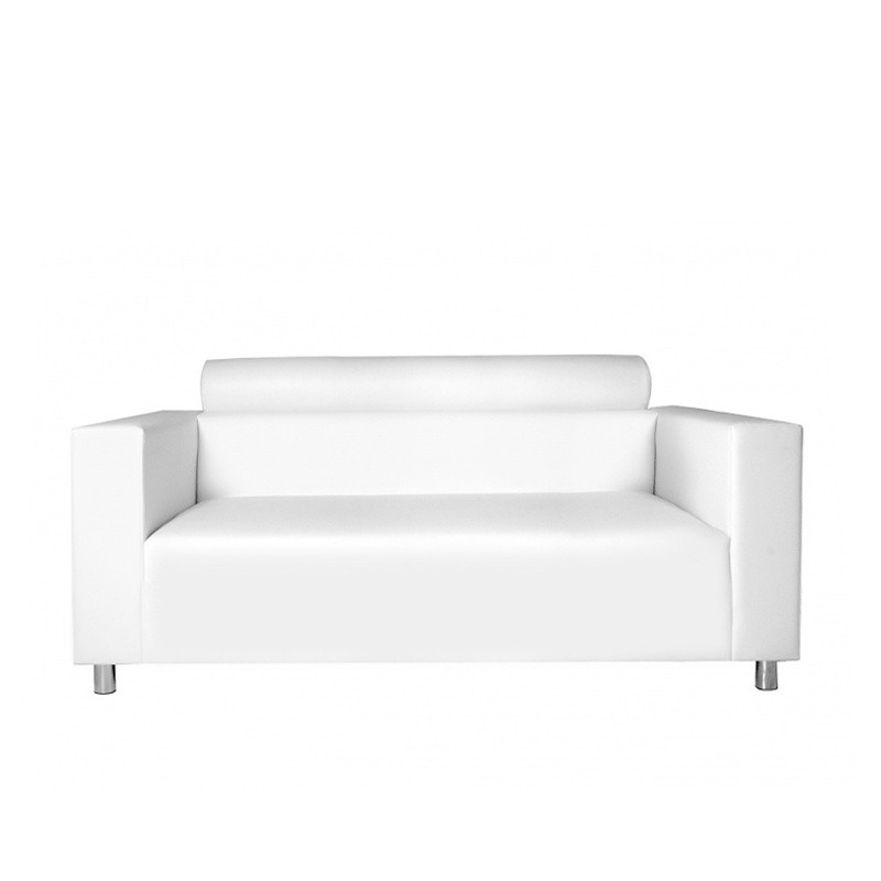Nantes Three-Seater Sofa with Roll - Leatherette White