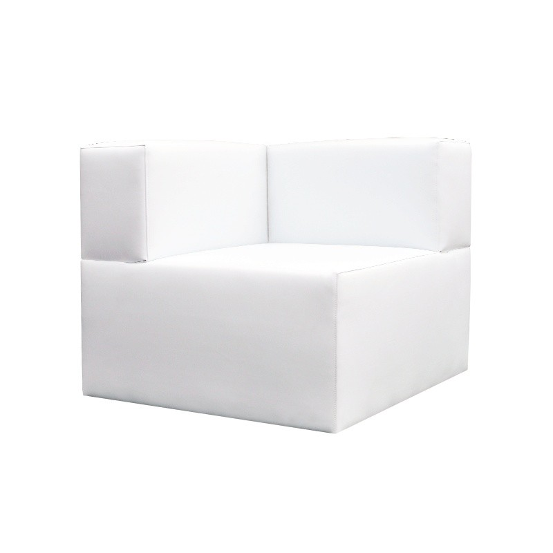 Chill Out Corner Sofa - Leatherette White