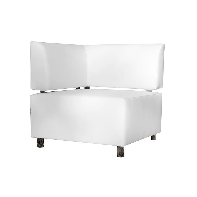Idra Corner Sofa - Leatherette White