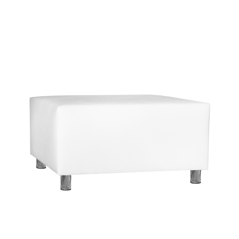 Idra Pouf - Leatherette White