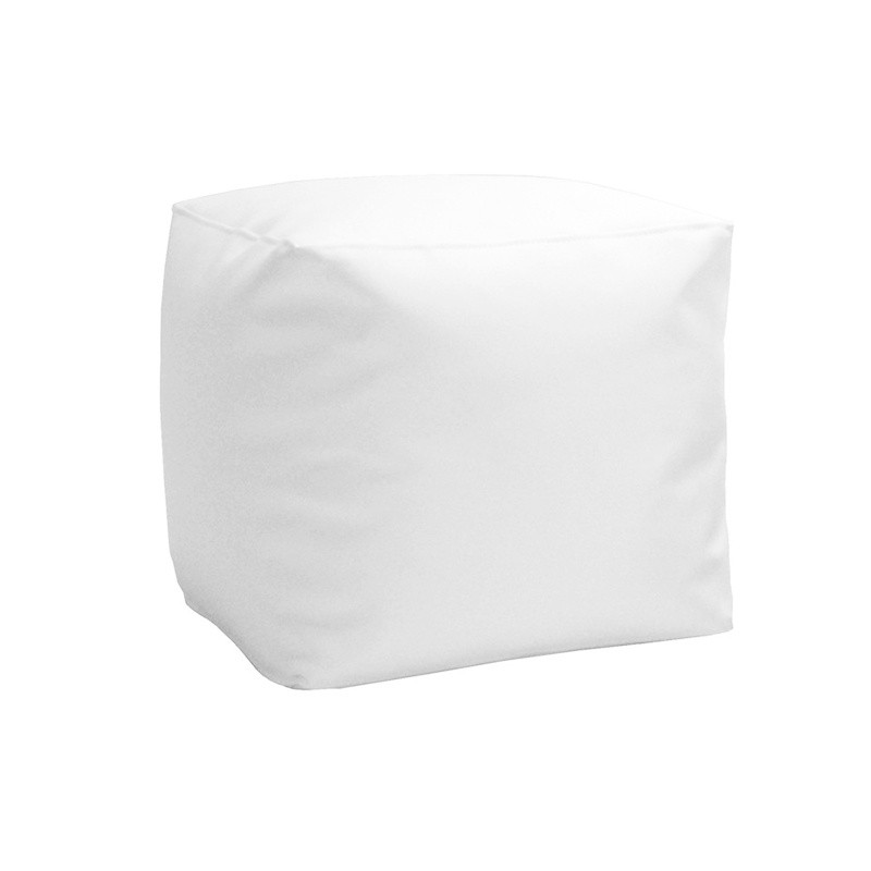 Puff cubo soft 45 - Polipiel Blanco