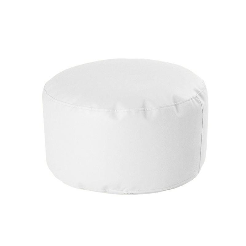 Puff Redondo Soft 60/30 - Polipiel Blanco