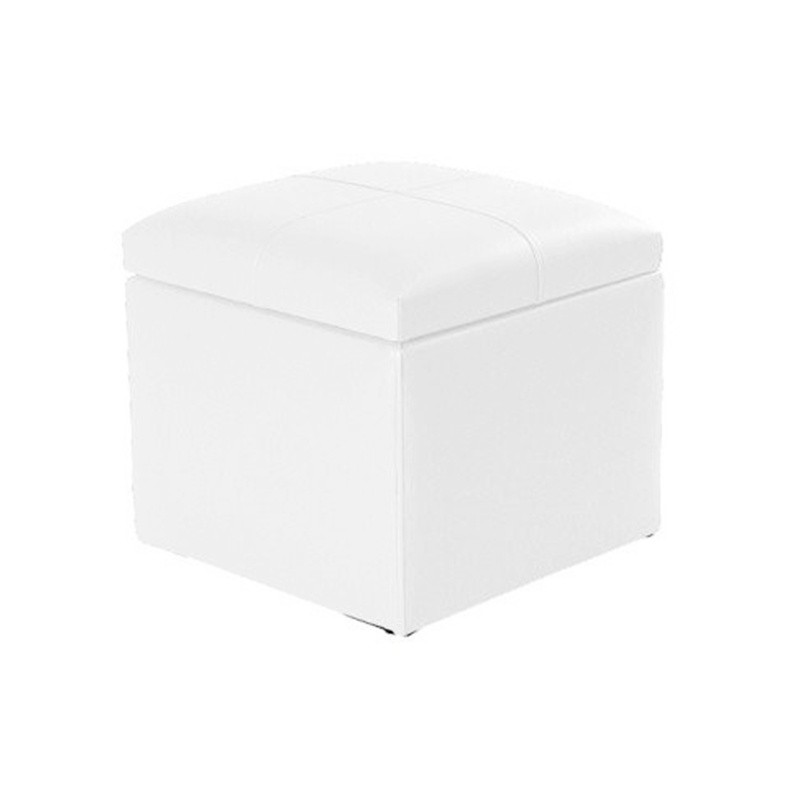 Chest Pouf 45 - Leatherette without legs White