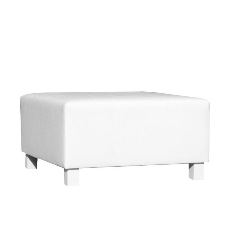 Gran Canaria Pouf - Leatherette White White lacquered
