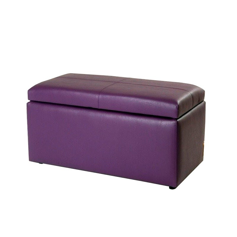 Chest Pouf 90 - Purple Leatherette without legs