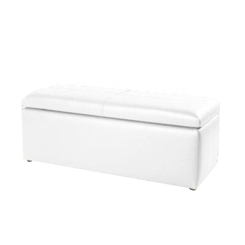 Chest Pouf 120 - Leatherette without legs White