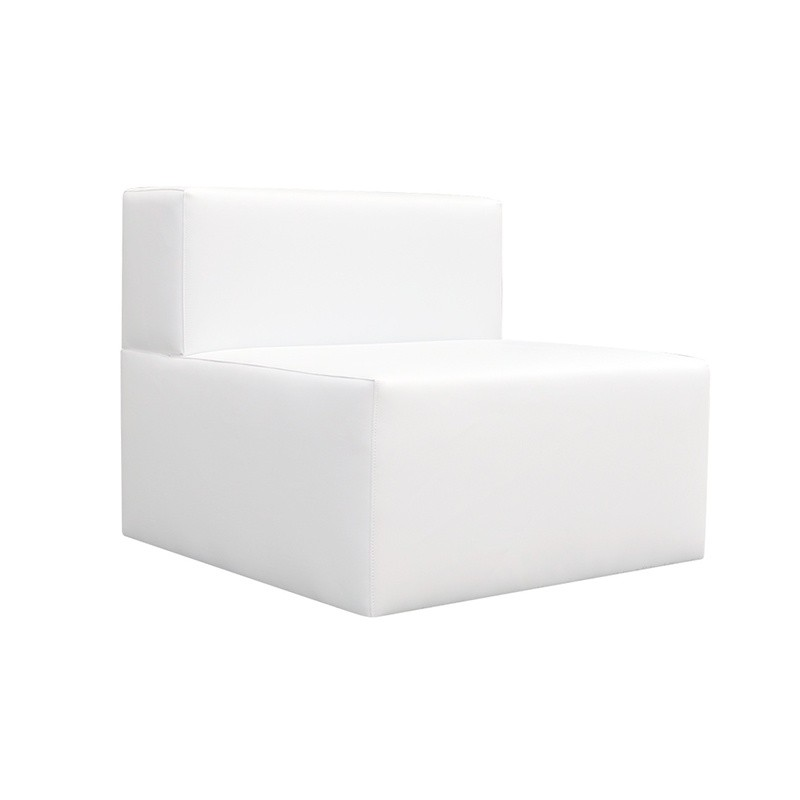 Chill Out Single Sofa - Leatherette White No