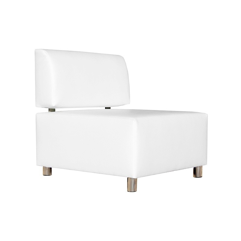 Idra Single Sofa - Leatherette White