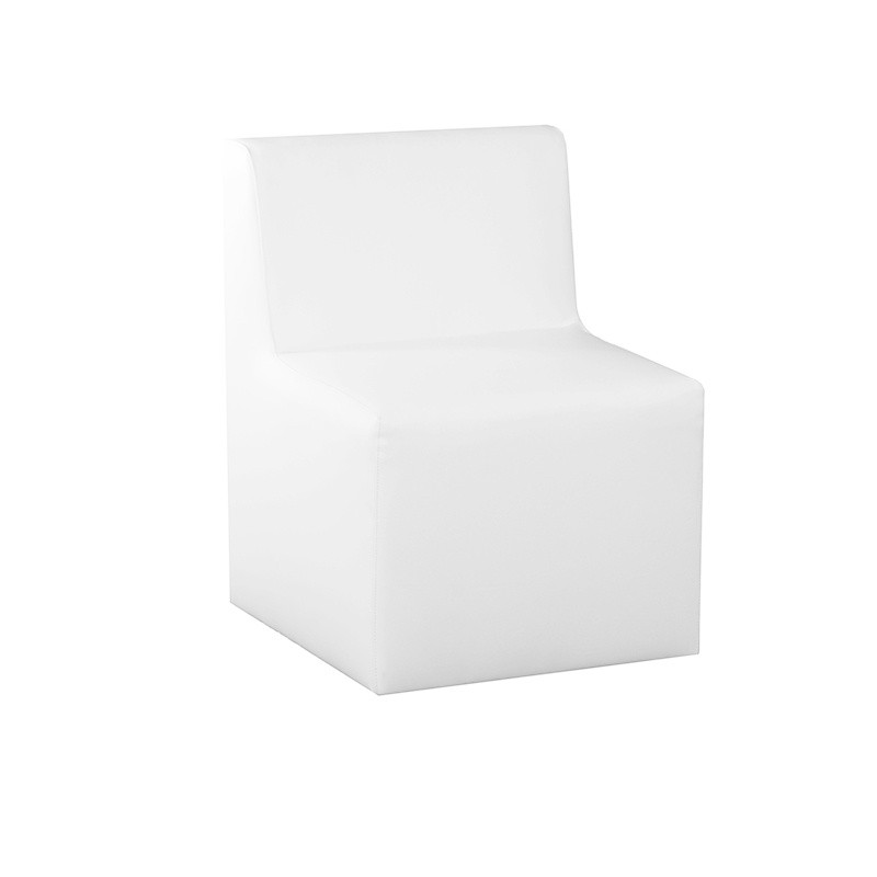 Menorca Plus Single Bench - Leatherette White