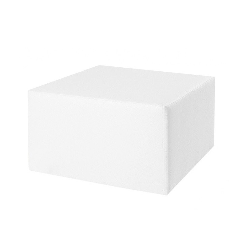 Cubic Table 50 - Leatherette without legs White 50x50x35 cm