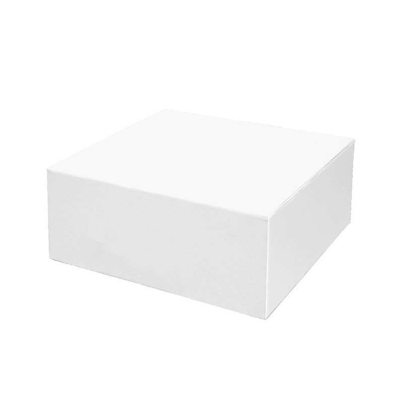 Mesa Cúbica 90 - Polipiel Sin patas Blanco