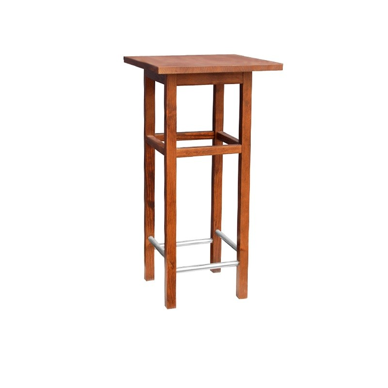 Square Lacquered Wooden Table - Mahogany