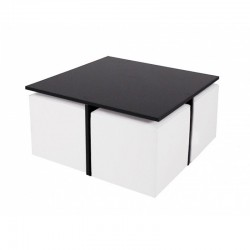 Quatro MDF table with cubes