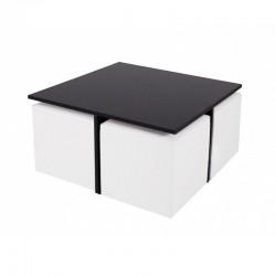 Quatro MDF table with cubes