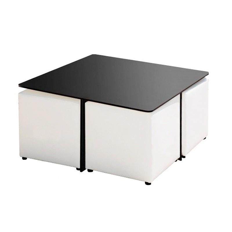 Quatro Phenolic Table - Black Nautic (Leatherette) Black