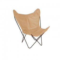 Bkf Butterfly Leather Chair - Beige