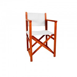 Director Chair - White Canvas