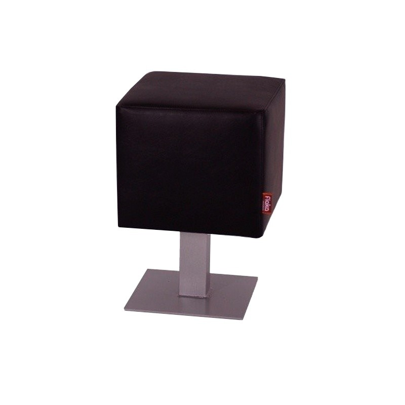 Lounge Square Stool - Black Nautic (Leatherette)