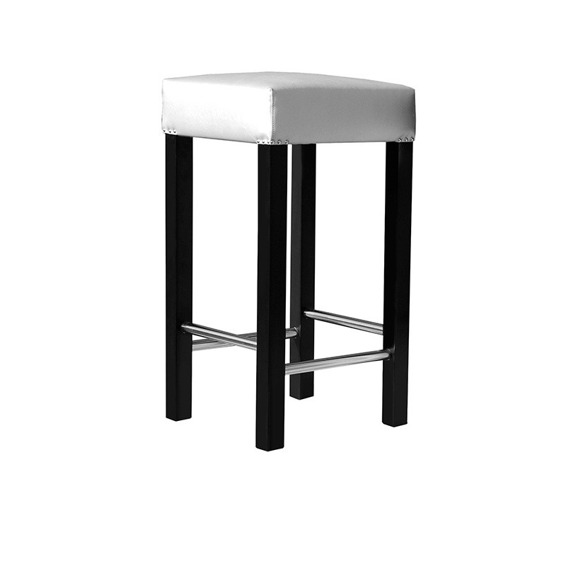 Lacquered Stool - Silver Lacado Negro Yes Yes