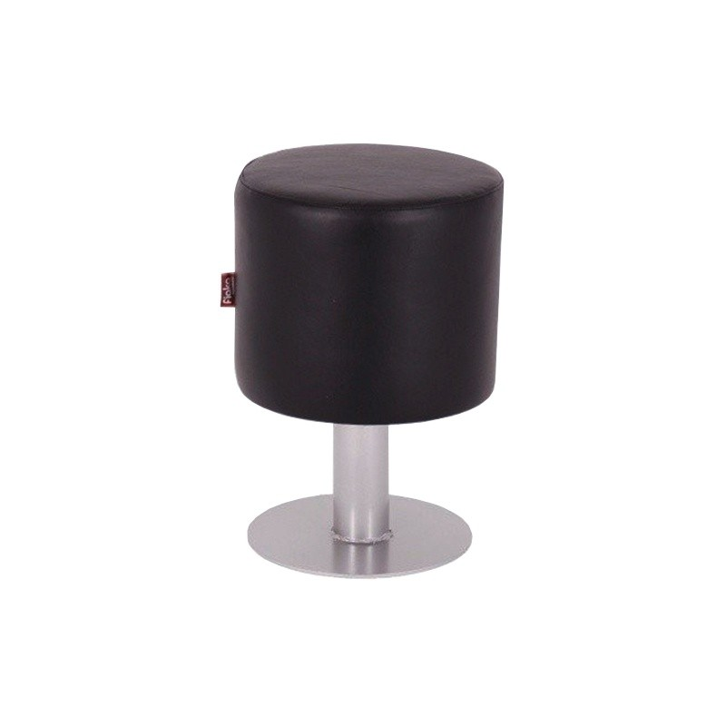 Lounge Round Stool - Black Nautic (Leatherette) Black