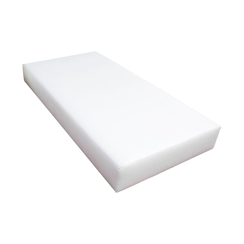 Balinese Single Bed Without Canopy - Nautic (Leatherette) White