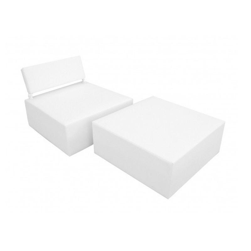 Balinese Modular Bed - Nautic (Leatherette) White