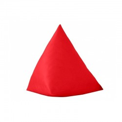 Pyramidal Cushion - Red Leatherette