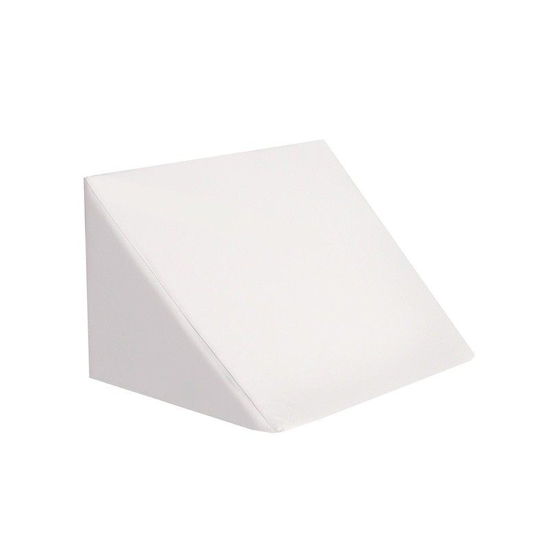 Cojín Respaldo Triangular - Polipiel Blanco 75cm. Ancho