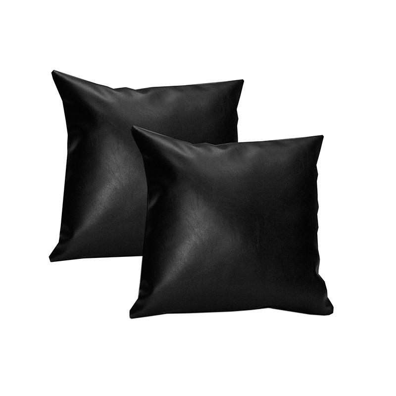 Pack 2 cojines 60x60 - Negro Polipiel