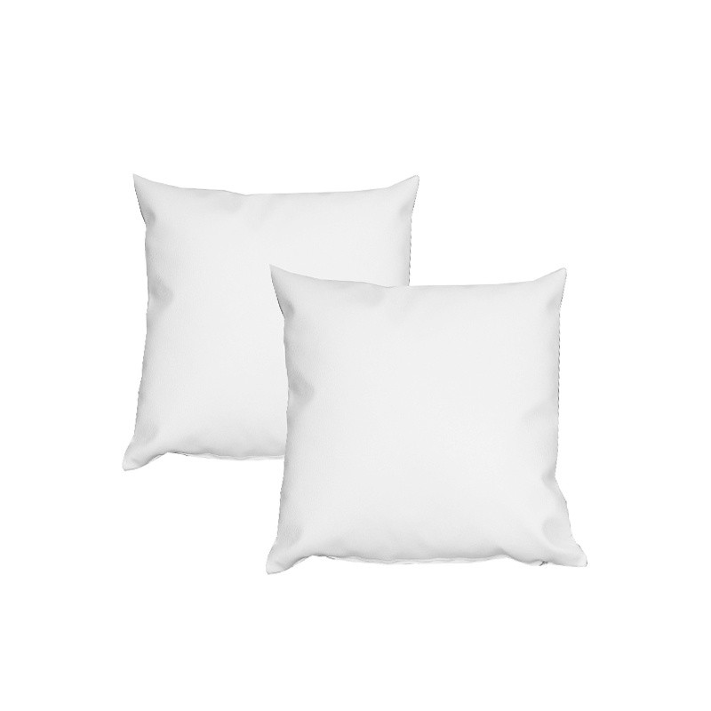 2 Cushions Pack 50x50 - Leatherette White