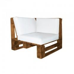 Pallet Corner Sofa - Nautic (Leatherette) White Wengue