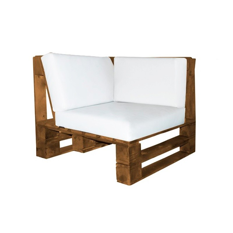 Pallet Corner Sofa - Nautic (Leatherette) White Wengue
