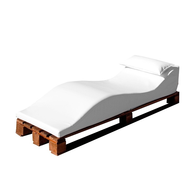 Duna Pallet Lounger - Nautic (Leatherette) White Wengue