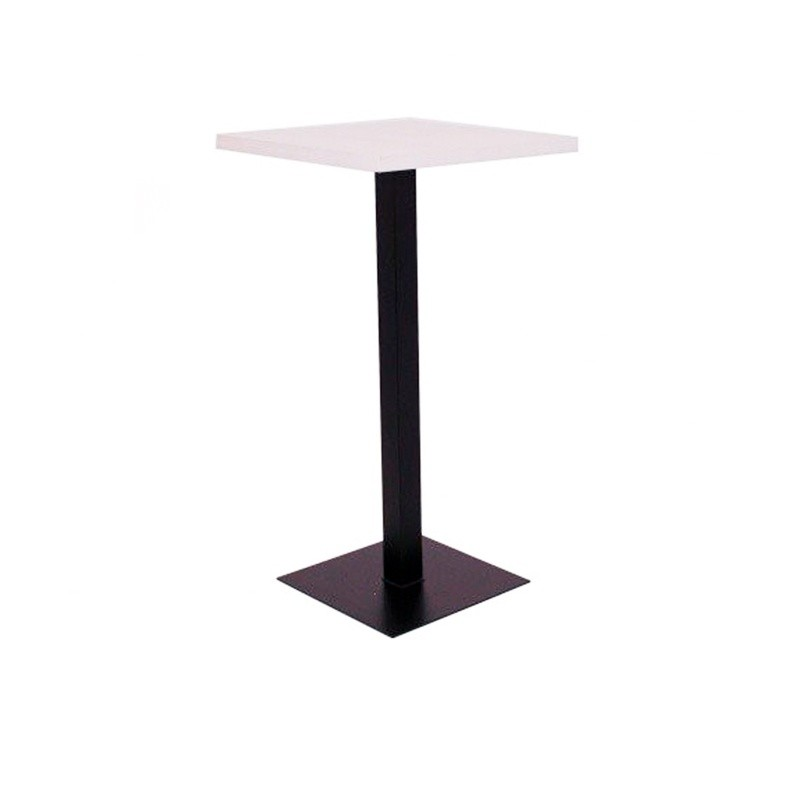 High Square Table - Black Blanco