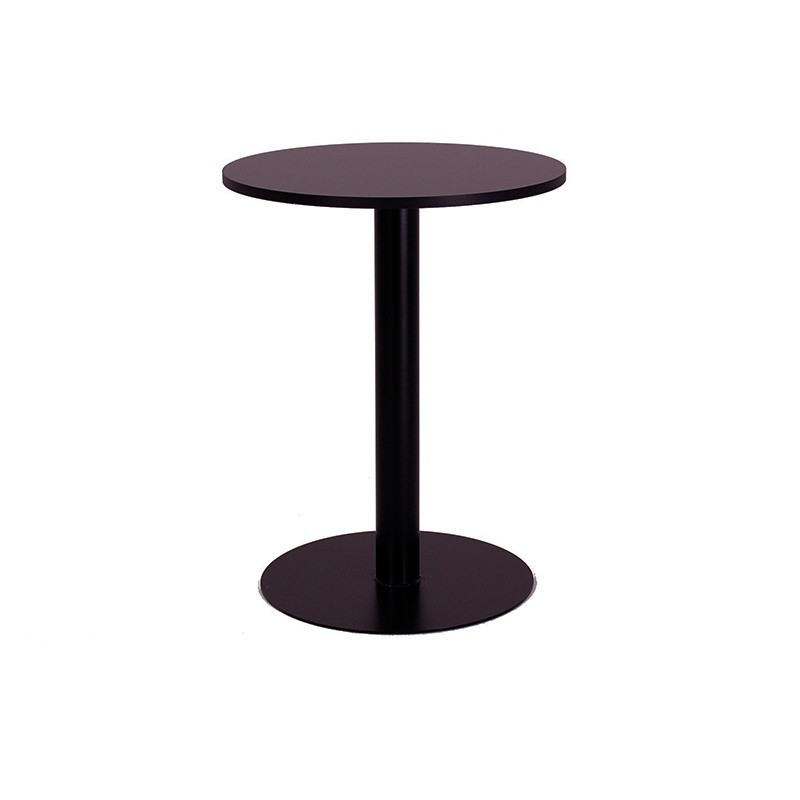 Low Round Table - Black Black